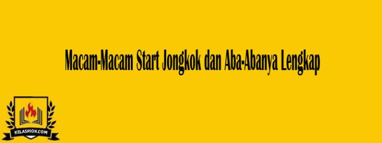 Macam-Macam Start Jongkok