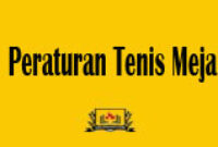 Peraturan Tenis Meja